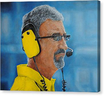 Canvas Print featuring the painting Eddie Jordan by David Dunne