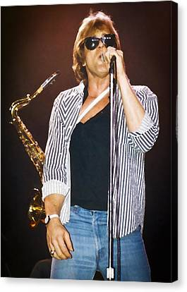 Eddie Money Singing Canvas Print by Patrick M Lynch