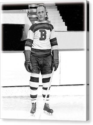 Eddie Shore Hockey Legend Canvas Print by Gianfranco Weiss