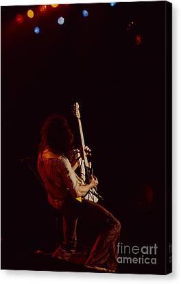 Eddie Van Halen - Van Halen At The Oakland Coliseum 12-2-1978 Rare Unreleased Canvas Print by Daniel Larsen