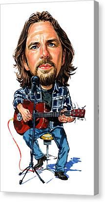 Caricature Canvas Print - Eddie Vedder by Art