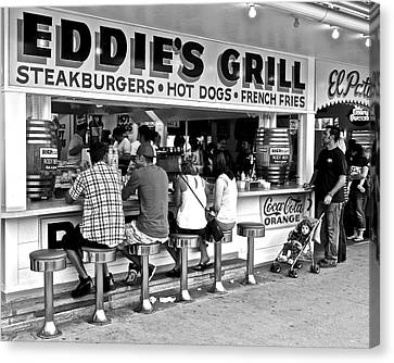 Eddie's Grill Canvas Print by Frozen in Time Fine Art Photography