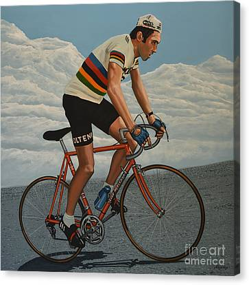 Eddy Merckx Canvas Print by Paul Meijering