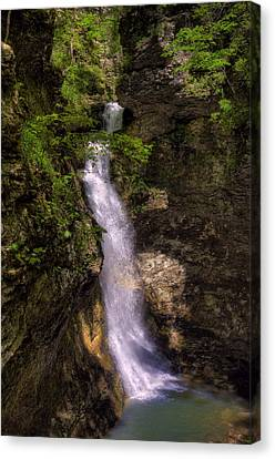 Eden Falls Lost Valley Buffalo National River Canvas Print by Michael Dougherty