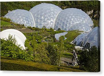 Eden Project Domes Cornwall England Canvas Print
