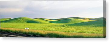 Eden Train Stop, Palouse, Whitman Canvas Print by Panoramic Images