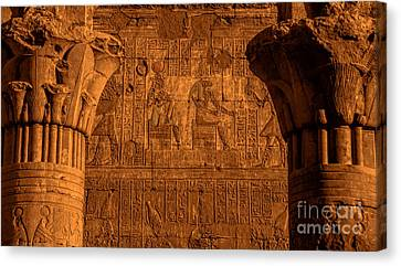 Edfu Temple Canvas Print by Nigel Fletcher-Jones