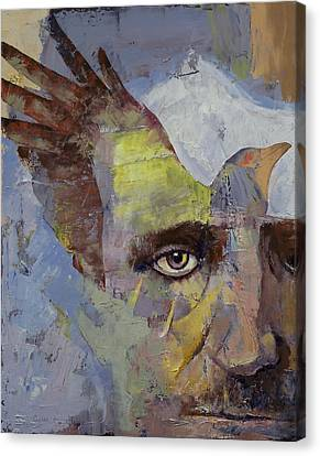 Goth Canvas Print - Poe by Michael Creese