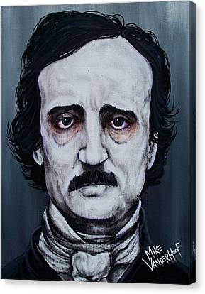 Edgar Allan Poe Canvas Print by Michael Vanderhoof