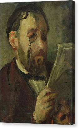 Edgar Degas 1834-1917 Oil On Canvas Canvas Print by Marcellin Gilbert Desboutin