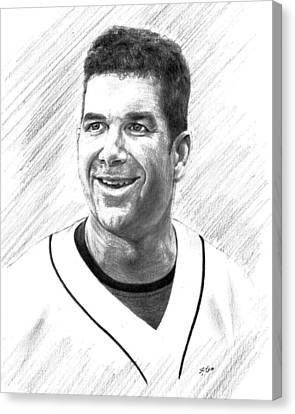 Edgar Martinez - Seattle Mariners Canvas Print by Lou Ortiz