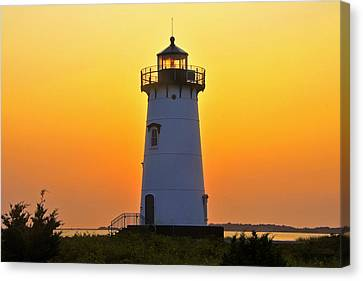 Edgartown Light Canvas Print by Dan Myers