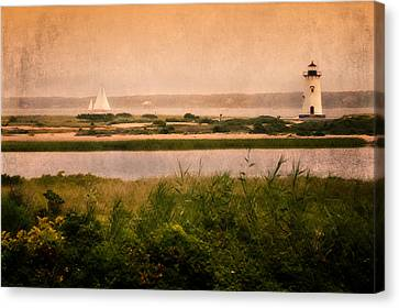 Cape Cod Scenery Canvas Print - Edgartown Lighthouse by Bill Wakeley