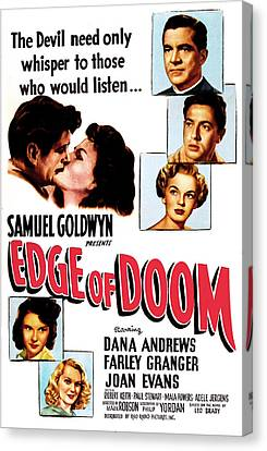 1950 Movies Canvas Print - Edge Of Doom, Us Poster,  Center by Everett