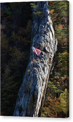Canvas Print featuring the digital art Edge Of The Ledge by Kelvin Booker