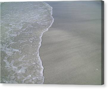 Canvas Print featuring the photograph Edge Of The Ocean by Ginny Schmidt