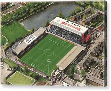 Edgeley Park - Stockport County Canvas Print by Kevin Fletcher