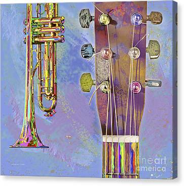 Edible Instruments Canvas Print by Gordon Wood