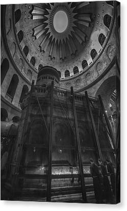 Edicule - Church Of The Holy Sepulchre Canvas Print by Stephen Stookey