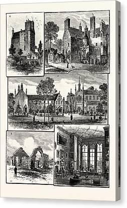 Edinburgh 1. Warrender House 2. St. Margarets Convent 3 Canvas Print by English School