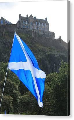 Independance Canvas Print - Edinburgh Castle by Alan Thompson