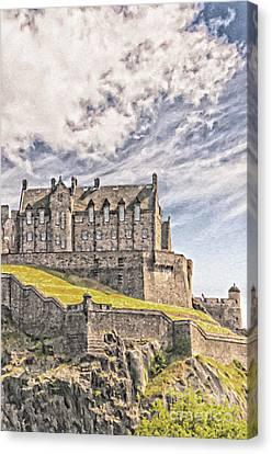 Edinburgh Castle Painting Canvas Print by Antony McAulay