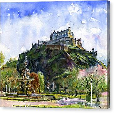 Edinburgh Castle Scotland Canvas Print