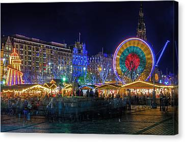 Edinburgh Christmas Market Canvas Print