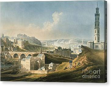 Edinburgh Cityscape, 1810 Canvas Print by British Library