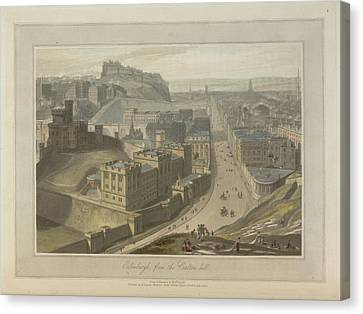 Edinburgh From The Carlton Hill Canvas Print by British Library