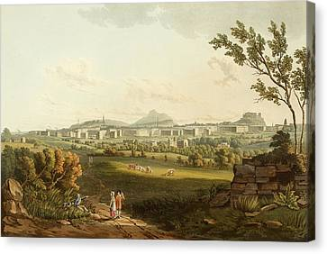 Edinburgh From The North West Canvas Print by British Library
