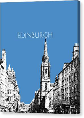 Edinburgh Skyline The Royal Mile - Slate Canvas Print by DB Artist