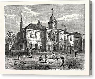 Edinburgh The High School Of Leith Built In 1806 Canvas Print by English School