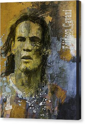 Edinson Cavani - B Canvas Print by Corporate Art Task Force