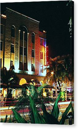 Canvas Print featuring the photograph Edison Hotel Film Image by Gary Dean Mercer Clark