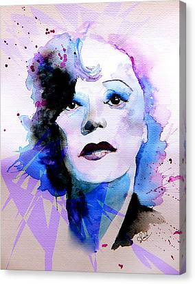 Canvas Print featuring the painting Edith Piaf by Steven Ponsford