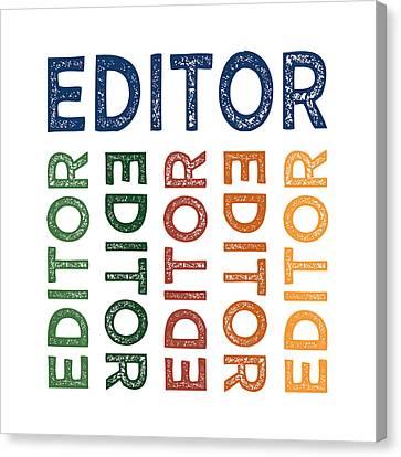 Editor Cute Colorful Canvas Print