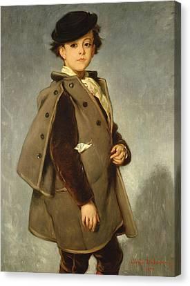 Edmond Dehodencq Wearing An Inverness Cape Canvas Print by Alfred Dehodencq