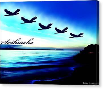 Edmonds Washington Waterfront Canvas Print by Eddie Eastwood