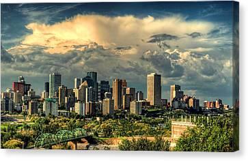 Edmonton Alberta Canada Skyline  Canvas Print