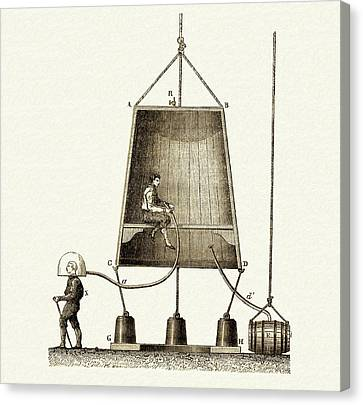 Edmund Halley's Diving Bell Canvas Print