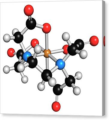 Edta Complexing Agent Molecule Canvas Print