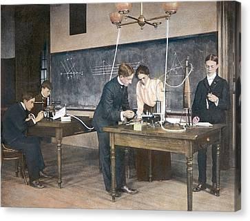 Education Physics, C1892 Canvas Print