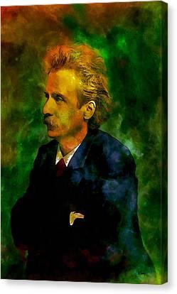 Edvard Grieg Canvas Print by Kai Saarto