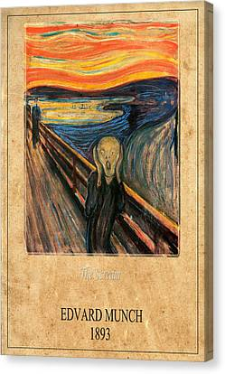 The Scream Canvas Print - Edvard Munch 1 by Andrew Fare