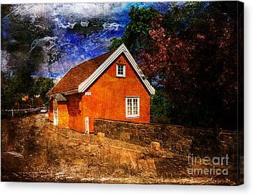 Edvard Munch's House Canvas Print by Randi Grace Nilsberg