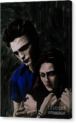Edward And Bella Canvas Print by Betta Artusi