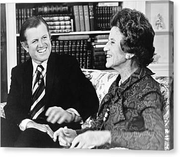 Edward And Rose Kennedy Canvas Print by Underwood Archives