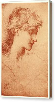Edward Burne-jones British English, 1833 - 1898. Beauty Canvas Print by Litz Collection