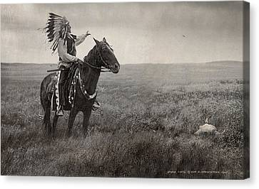 Edward Curtis Elements Combined Canvas Print by R christopher Vest